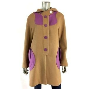 Marc Jacobs 100% Cashmere Coat Jacket sz 8 Camel